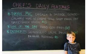 Our son Avery is showcasing our lunch special today
