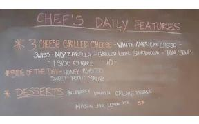 It's starting to rain outside so come join us 11am-2pm for a 3-cheese Grilled Cheese