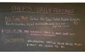 A picture of our lunch special was posted earlier but here are the details and extras