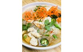 Asian Noodle Bowl Special-Chicken, Rice Noodles, Savory Broth, Cilantro, Peppers, Green Onions
