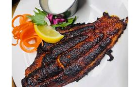 Tonight's dinner special, NC Blackened Catfish with your choice of two sides for $17