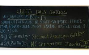 Tuesday specials are posted