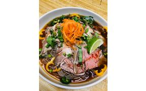 New special for dinner- Beef Noodle Bowl-Shaved Rib-eye-Rice Noodle-Peppers-Cilantro-Green ...