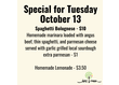 Who's hungry? Come see us for lunch this Tuesday, October 13