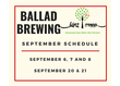 We're excited to set up shop at Ballad Brewing in the River District throughout the month of ...