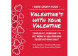 Hello Valentine!  Don't be late this year making your reservation