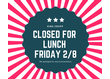 We hate to post that we won't be open for lunch today because we always miss your smiling faces, ...